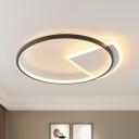 Acrylic Geometric Flush Mount Fixture Contemporary LED Flush Light in White for Bedroom, 3 Color Light