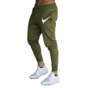 Hip-hop Style Melting Pattern Drawstring Waist Ankle Banded Pants Outdoor Sweatpants