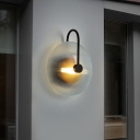 Circular Stairway Wall Lighting Contemporary Clear Glass 1 Head Sconce Light Fixture