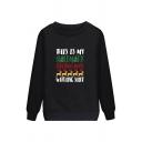 Popular Letter THIS IS MY HALLMARK CHRISTMAS MOVIE Printed Pullover Graphic Sweatshirt