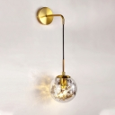 Silver/Gold Sphere Sconce Light Simple 6