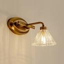 Conical Bathroom Vanity Lighting Traditional Metal 1/2/3-Bulb LED Brass Wall Lamp Fixture