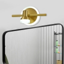 Metal Brass Vanity Sconce Light Linear 1/2/3-Head LED Traditionalist Wall Lamp for Bathroom