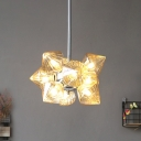9/12 Lights Living Room Chandelier Modernist Chrome Pendant Light with Diamond Amber Glass Shade