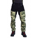 Mens Leisure Camouflage Patch Multi-pocket Straight Trousers Cargo Pants