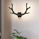 Nordic Style Antler Wall Sconce Light Metal Decorative Wall Light Fixture for Bedroom