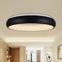 Modern Circle Flush Mount Metal Living Room 19