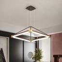 Rhombus Chandelier Lighting Modern Metal White/Coffee 18