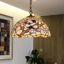 Bird Cut Glass Suspension Pendant Light Mediterranean 1 Light White Drop Lamp for Kitchen
