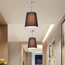 Tapered Pendant Light Simple Modern 1 Light Hanging Ceiling Light with Fabric Shade