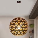 Globe Hanging Lamp Contemporary Metal 12