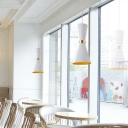 Hourglass Metal Hanging Lamp Modernism 1 Head Black/White Ceiling Pendant Light