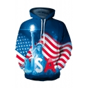 Hot Popular Statue of Liberty USA Flag 3D Printed Long Sleeve Pullover Hoodie for Unisex Adult