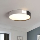 Drum Acrylic Flush Mount Lighting Simple Black and White Light 16