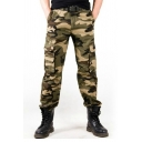 Mens Popular Camouflage Printed Multi Pocket Zipper Loose Casual Cotton Pants
