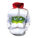Funny Green Monster 3D Pattern Long Sleeve Loose Fit Christmas Hoodie
