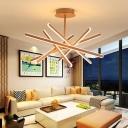 Crossed Line Metal Hanging Lamp Modern Coffee 23.5