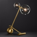 Globe Shaped Task Lighting Contemporary Metal LED Bedroom Desk Lamp in Gold with Base