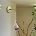 Crystal Teardrop Wall Sconce Light Modernist LED Gold Wall Lighting Fixture in Warm/White/3 Color Light