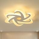 Criss Cross Ceiling Light Fixture Simple Acrylic White 18
