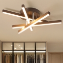 Crossed Line Acrylic Ceiling Light Modernism Coffee 17