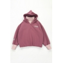 Patched Knit High Collar ORIGINAL Letter Print Long Sleeve Fake Two Piece Oversized Hoodie