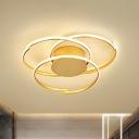 Gold 3-Tier Ceiling Light Fixture Postmodern Acrylic 18