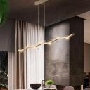 White Wave Chandelier Light Fixture Simple 5/7 Lights Metal Ceiling Chandelier, Warm/White Light