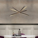 Starburst Metal Chandelier Lighting Fixture Modern Black and Gold LED Hanging Lamp