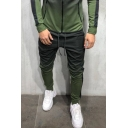 Mens Exclusive Ombre Color 3D Pattern Skinny Fit Casual Sport Pants