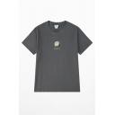 Cute Girls' Short Sleeve Crew Neck Fruit Graphic Relaxed T-Shirt