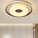 Round Acrylic Ceiling Lamp Modern White 16