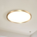 Metal Disk Ceiling Mounted Fixture Modern Gold 12