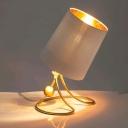 Gold Barrel Shaped Reading Book Light Modern Style 1 Light Metal Task Lamp for Bedside