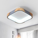 Metal Square Shaped Flush Mount Lighting Contemporary 14