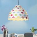 Multi-Color Bowl Hanging Lighting Contemporary 1 Head Metal Suspension Pendant Light