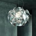 Global Hanging Lamp Modernism Clear Glass 1 Bulb Ceiling Pendant Light, 22