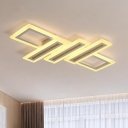 Rectangle Ceiling Lighting Modernism Acrylic White 23.5