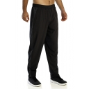 Mens Active Colorblocked Stripe Side Split Loose Fit Quick Drying Sweatpants