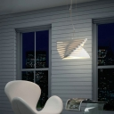 Metal Spiral Pendant Lighting Modernist 1 Bulb Hanging Ceiling Light in White for Balcony