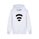 Funny WiFi Pattern Long Sleeve Regular Fit Pullover Hoodie with Pocket