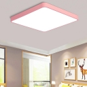 Rectangle Ceiling Fixture Macaron Acrylic Pink 19.5