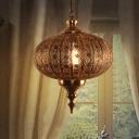 1 Light Metallic Hanging Pendant 16