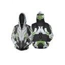 Cool Armour 3D Pattern Long Sleeve Zip Up Side Pockets Men's Cosplay Hoodie