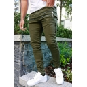 Mens Exclusive Plain Zipper Embellished Multi Pockets Skinny Active Pants