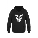 Mens Funny Geometric Pattern Long Sleeve Pouch Pocket Fitted Drawstring Hoodie