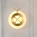 Elk Living Room Sconce Light Tradition Metal LED Brass/Black Wall Lighting Fixture