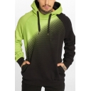 Hot Popular Geometric Colorblock Patch Long Sleeve Loose Fit Drawstring Sports Hoodie