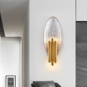 Resin Oval Wall Lighting with Metal Tube Shade Nordic Style 2 Lights Wall Sconce Light