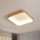 Square Flush Mount Lighting Minimalist 14.5